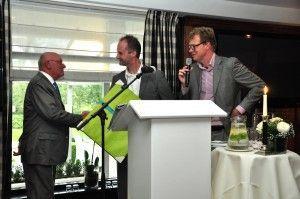 Karel van Eerd (links), Maarten Beernink en Rupert Parker Brady.
