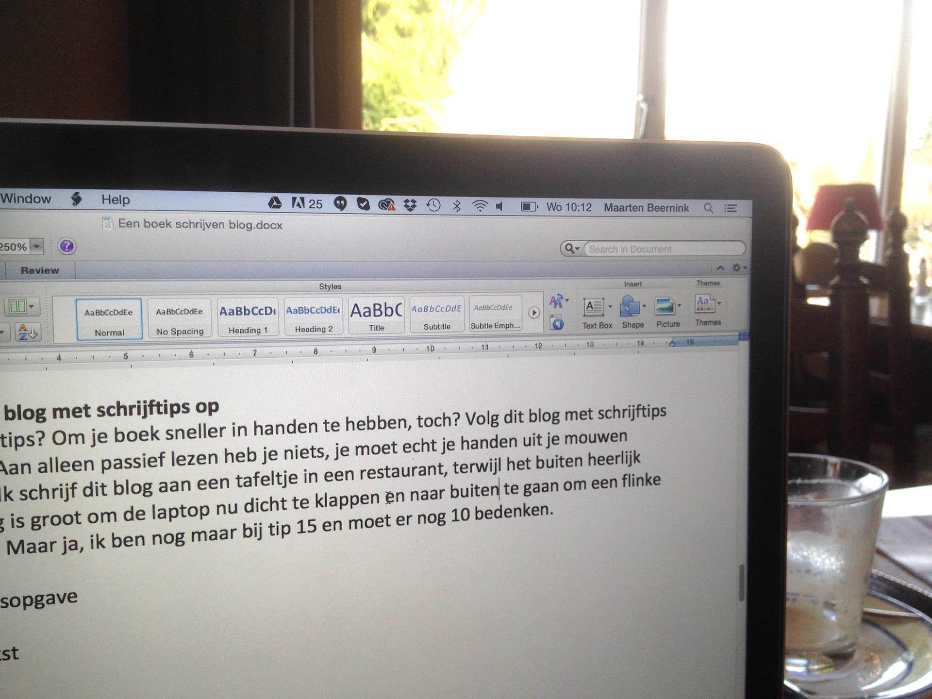 Blog met schrijftips