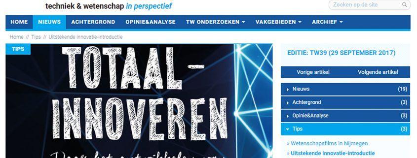 Technisch Weekblad - Leo Haffmans - Totaalinnoveren