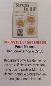 Boekenpagina Zorgvisie - Stress te lijf met energie feb 2020